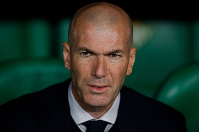 Real Madrid coach Zinedine Zidane