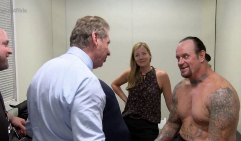 Vince McMahon and The Undertaker backstage