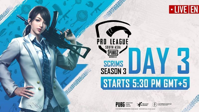 PMPL South Asia season 2 scrims day 3