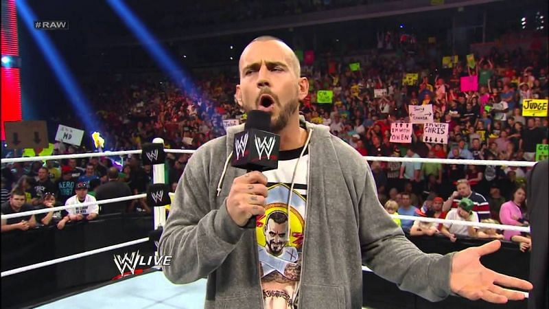 CM Punk really wanted that match (Pic Source: WWE)