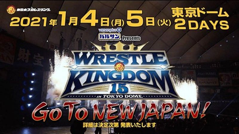 Wrestle Kingdom 15 officially announced for two straight nights at the Tokyo Dome.
