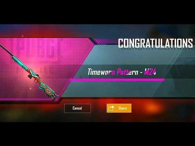 Free weapon skins in PUBG Mobile by achievements