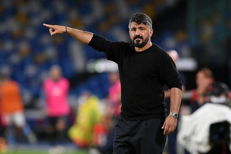 Napoli head coach Gennaro Gattuso