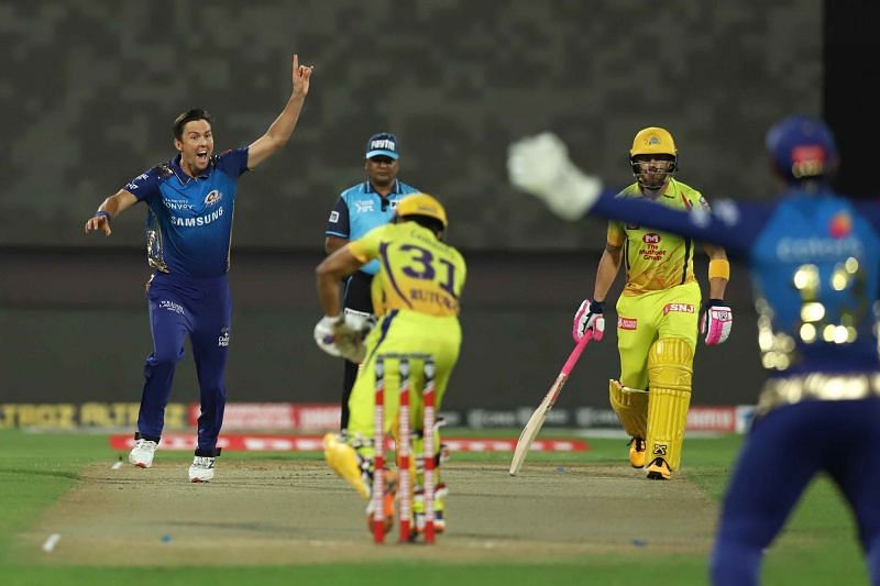 Trent Boult picks up the wicket of Ruturaj Gaikwad. (Picture Credits: iplt20.com)