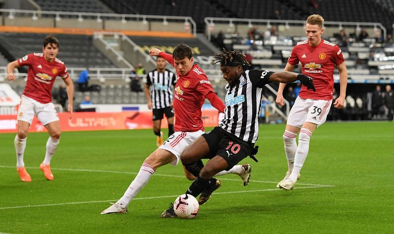 Saint-Maximin was on top form against Manchester United.