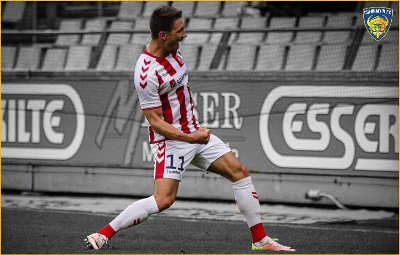 Slovakian forward Jakub Sylvestr will ply his trade for Chennaiyin FC in the upcoming ISL season.