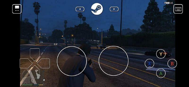 GTA 5 on Steam Link app