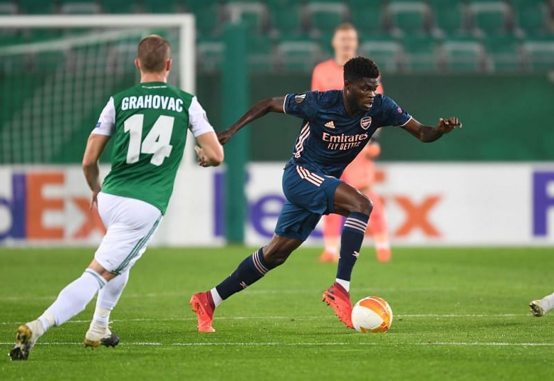 Thomas Party was voted man of the match against Rapid Vienna