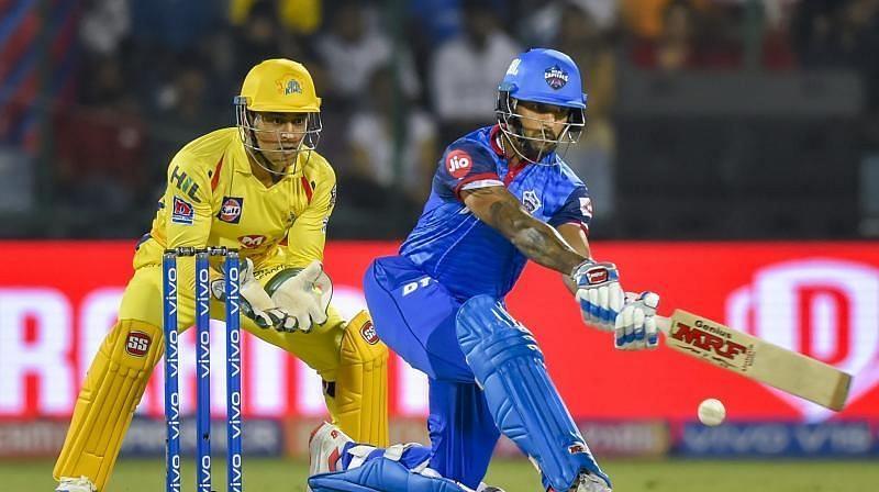 Shikhar Dhawan scored a fluent unbeaten 97 in IPL 2019 against KKR