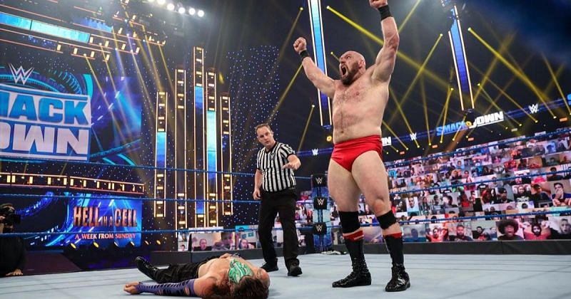 Lars Sullivan picked up a win over Jeff Hardy on last week