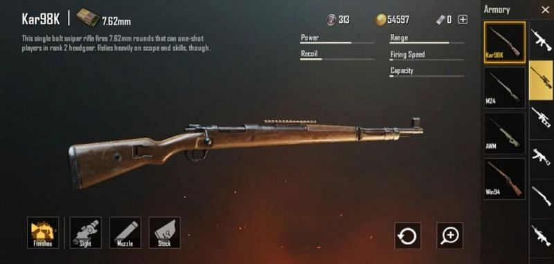 Kar98k location and damage in PUBG Mobile (Image credits: IBTimes India)