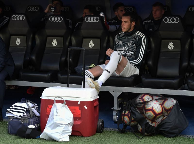 Gareth Bale on the Real Madrid bench
