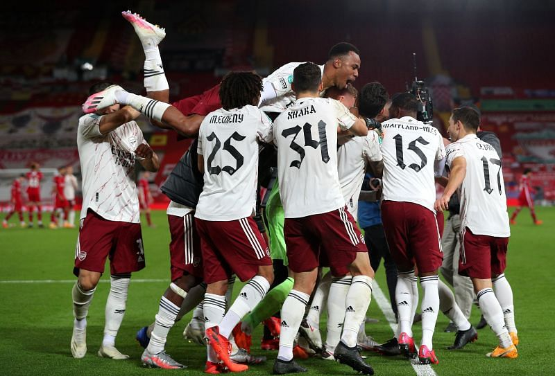 Arsenal pipped Liverpool 5-4 in a penalty shootout to progress in the 2020-21 Carabao Cup