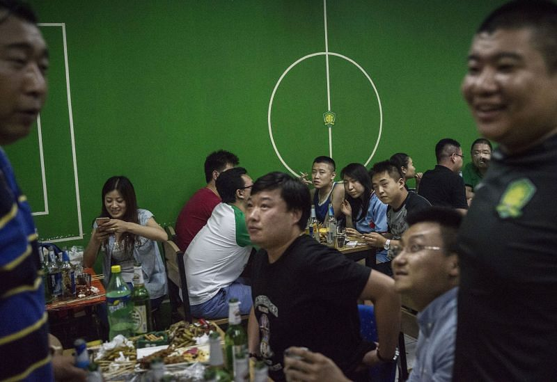 Football culture in China is growing