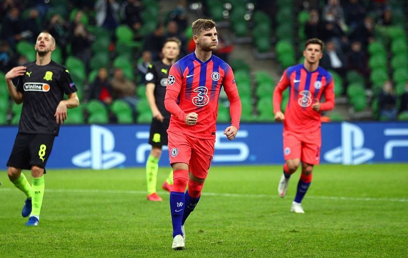 Timo Werner scored his fourth goal of the season against Krasnodar.