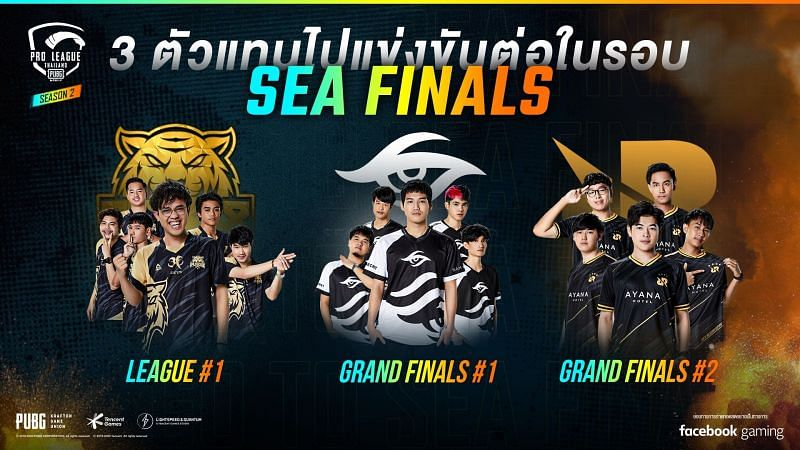 Qualified teams from Thailand for the PMPL SEA Season 2 Finals