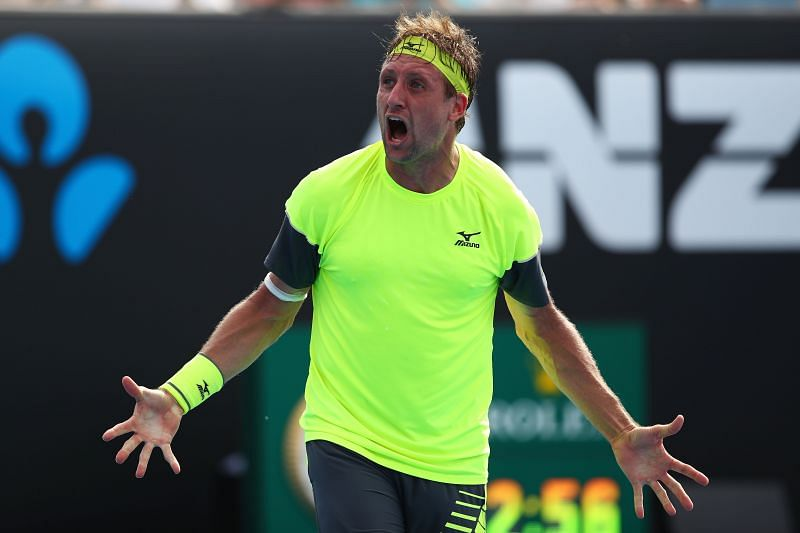 Tennys Sandgren is hoping to progress to the second round