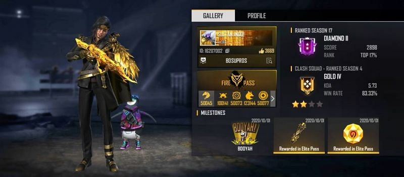 Sultan Proslo (Dyland Pros) Real name, Free Fire ID, rank, stats, and more