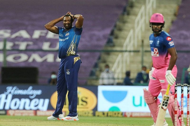 Kieron Pollard had an out-of-sorts day as captain and all-rounder. [PC: iplt20.com]