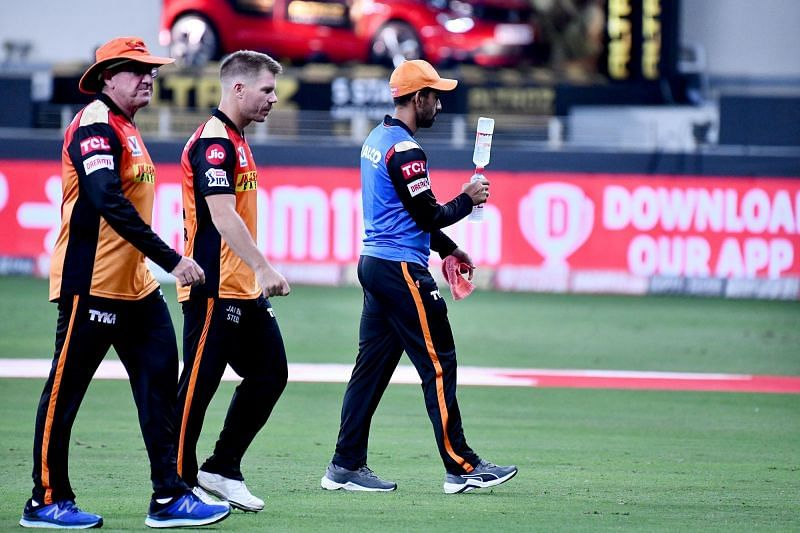 Sunrisers Hyderabad failed to chase down a 127-run target against KXIP [P/C: iplt20.com]