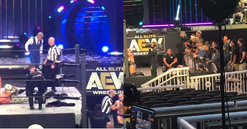 Alex Reynolds suffered an injury in the main event of the latest episode of AEW Dynamite.
