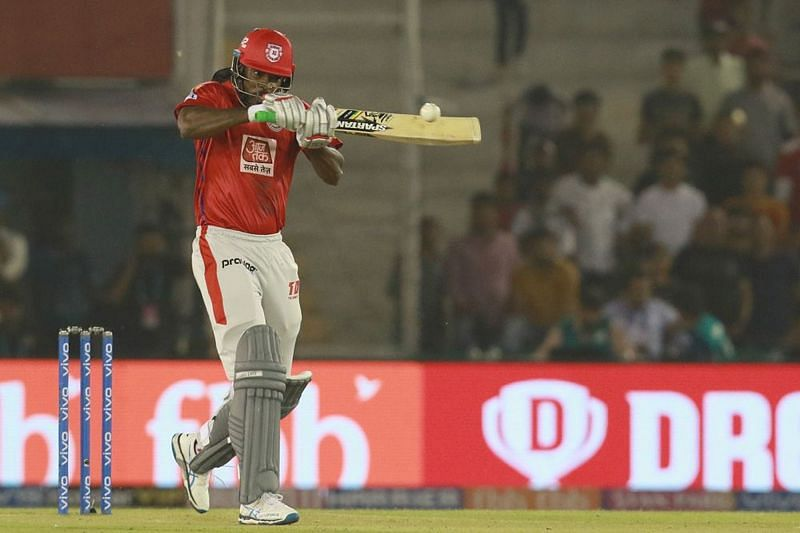 Chris Gayle in action for Kings XI Punjab during IPL 2019. (Image Credits: IPLT20.com)