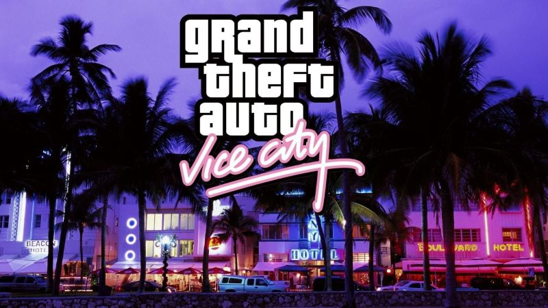 Players can get GTA Vice City from the Rockstar Warehouse or Steam (Image Credits: getwallpapers.com)