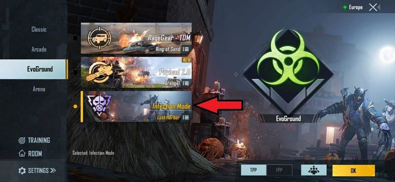 Press on the Infection Mode