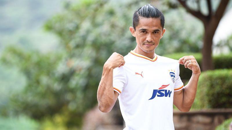 Skipper Sunil Chhetri styling Bengaluru FC