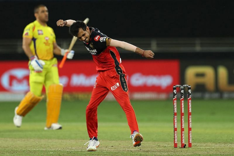 Yuzvendra Chahal celebrates after picking up the wicket of MS Dhoni. Image Credits: IPL