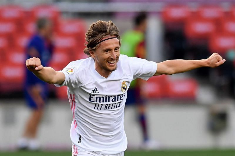 Luka Modric scored a fine goal to seal all three points for Real Madrid.