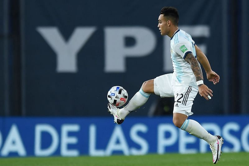Lautaro Martinez in action against Bolivia