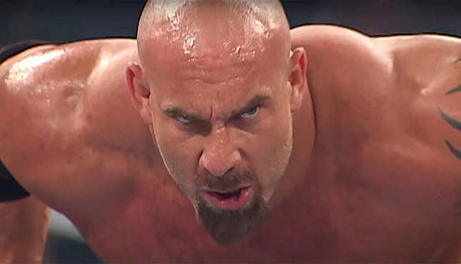 Goldberg was a little hot under the collar (Pic Source: WWE)