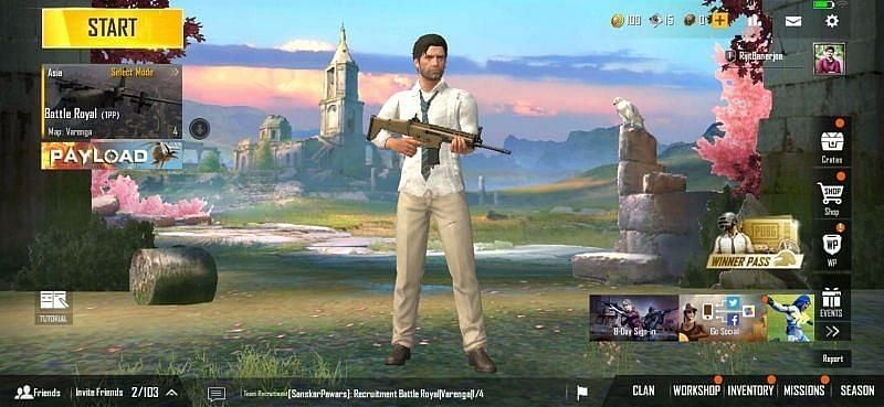 Change game mode in PUBG Mobile Lite