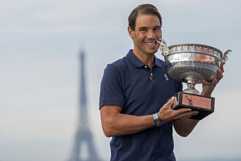Rafael Nadal after beating Novak Djokovic in the Roland Garros final