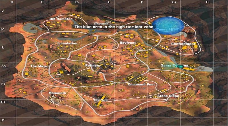 Free Fire: Best places to land on the Kalahari map