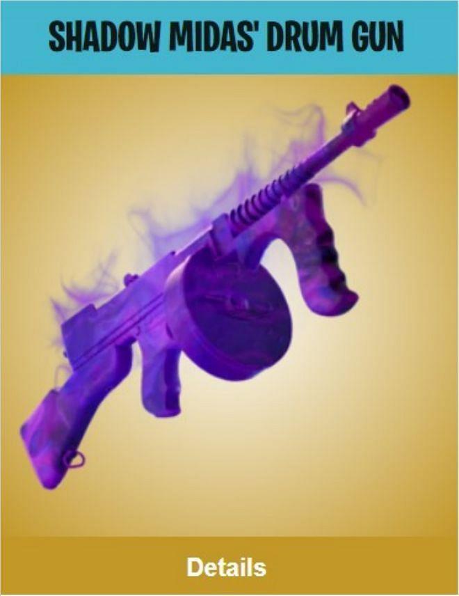 The Shadow Midas Drum gun (Image Credits: Epic Games)