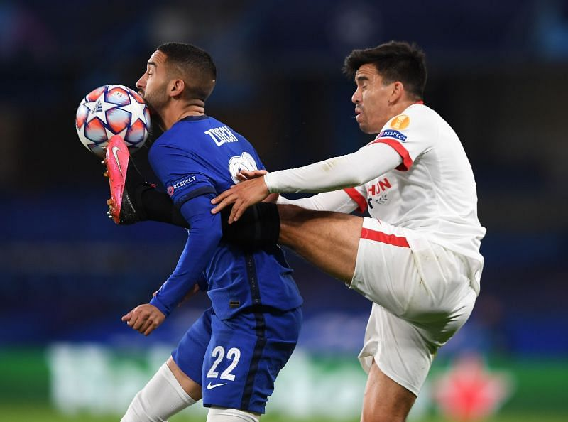 Chelsea and Sevilla played out a goalless draw at Stamford Bridge