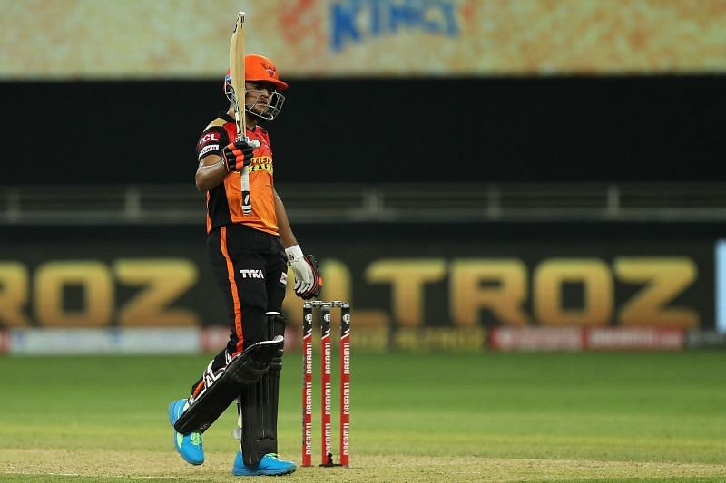 Priyam Garg scored his first fifty in the IPL.