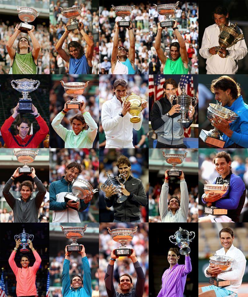 Rafael Nadal 20 Grand Slams