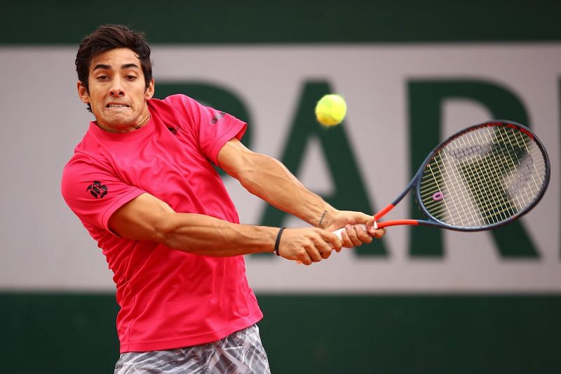 Cristian Garin at the 2020 French Open