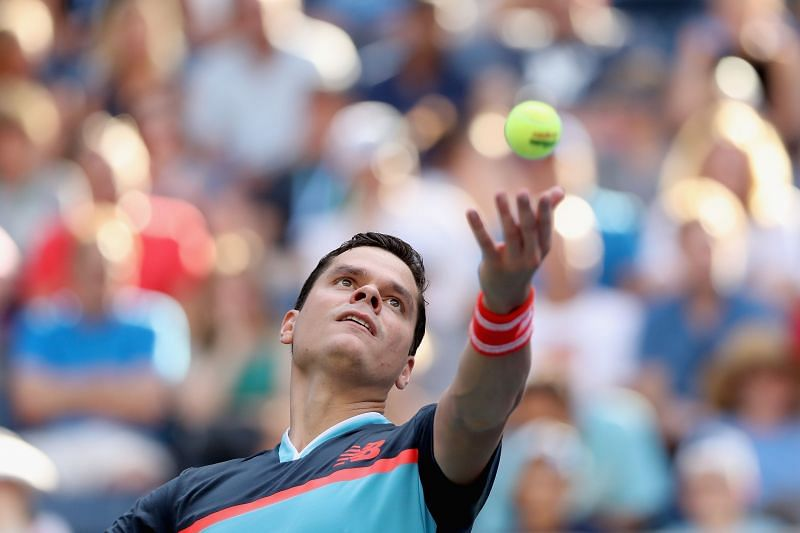 Milos Raonic will be looking to make the most of his big serve
