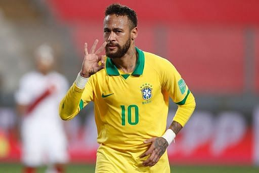PSG star Neymar notched his fourth hat-trick for Brazil and is now their second-highest scorer.