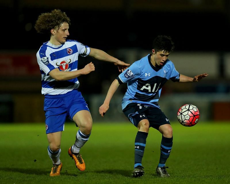 Cy Goddard in action for Spurs U21