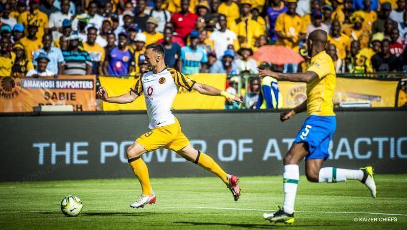 Kaizer Chiefs take on Mamelodi Sundowns this weekend. Image Source: CGTN Africa
