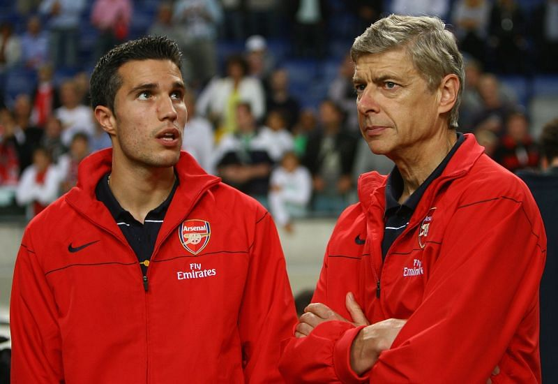 Arsene Wenger and Robin van Persie