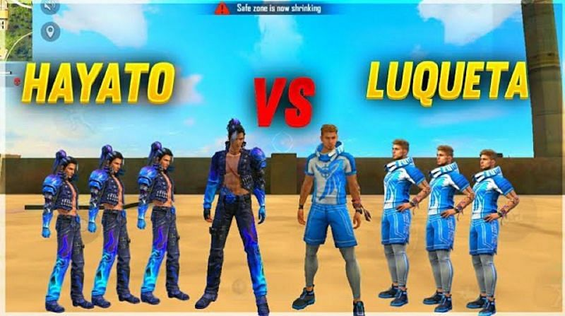 Luqueta and Hayato are two of the most used characters in Garena Free Fire (Image Credits: Happy Prince Gaming Boss / YouTube)