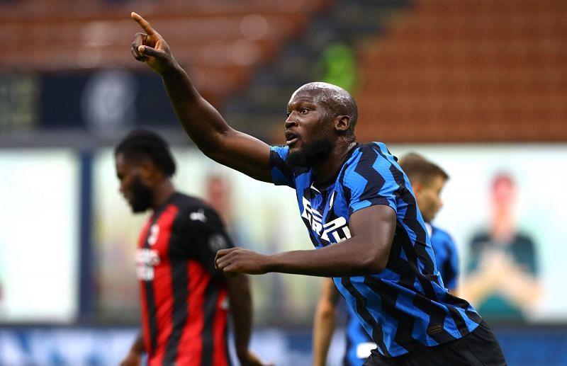 Romelu Lukuku scored his fourth goal of the season in Serie A against AC Milan