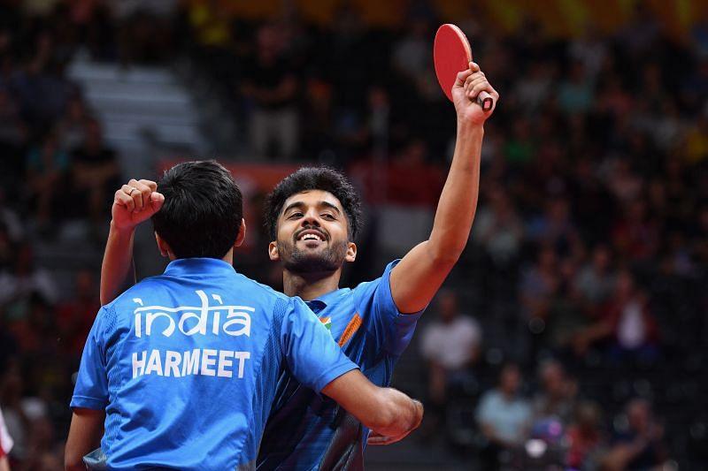 Indian Paddlers - Harmeet Desai and