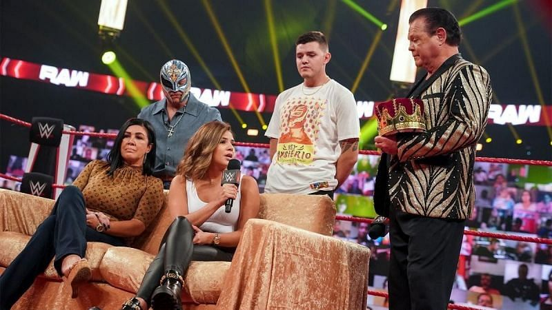 """The Mysterios with Jerry """"The King"""" Lawler"""
